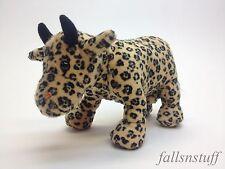 "Plush Cow Parade Bull Steer w/ Cheetah Leopard Print 7"" UNIQUE Gift  Mini Little"