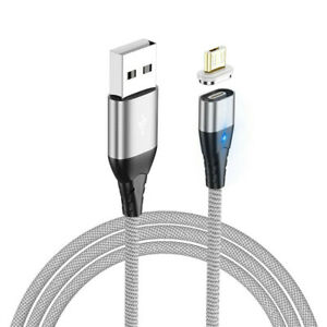 3A Magnetic Braided USB Fast Charger Charging Data Cable For Micro USB Type C