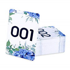 Facebook Live Number Tag Reusable Normal and Reverse Mirror Image Hanger Cards