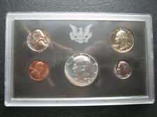 USA 1969 US Mint 5 Proof Coin Set: Cent ~ Silver Half Dollar ~ Cased ~ Envelope
