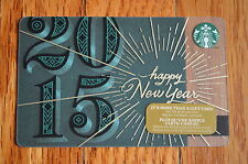 "U.S. Series Starbucks ""HAPPY NEW YEAR 2014"" Gift Card - New No Value"