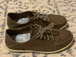 Men's OluKai Manoa Shoes Size 11.5 Mustang/Toffee Brown
