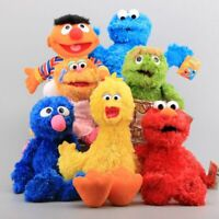 Sesame Street Hand Puppet Plush Toys Elmo Cookie Monster Ernie Stuffed Dolls Toy