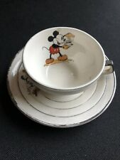 Disney Mickey Mouse cup and saucer, 1930's   Made in France