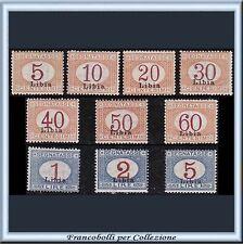 Colonie Italiane 1915 Libia Segnatasse serie completa n. 1/10 Nuovi integri **