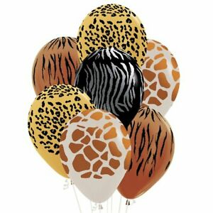 SAFARI JUNGLE BALLOONS - Choose quantity - 12 inch animal PARTY DECORATIONS