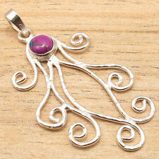 SPECIAL PRICE $0.99 !!! 925 Silver Plated PURPLE COPPER TURQUOISE Cheap Pendant