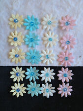 20 Pastel Mulberry Paper Flowers Handmade Miniatures Cards Baby babies Shower