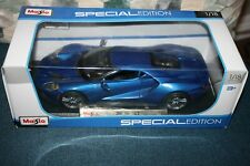 2017 Blue Ford GT 1:18 Scale Diecast by Maisto