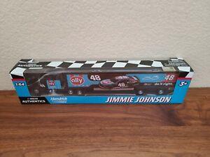 2020 Wave Jimmie Johnson Ally Darlington Throwback Hauler 1/64 NASCAR Authentics