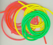"""3  5 FOOT LENGTHS (15' TOTAL) OF 1/8"""" I.D. 3/16""""O.D  NEON LATEX TUBING FREE SHIP"""