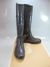 MICHAEL KORS Womens FULTON HARNESS Coffee TALL RAINBOOTS US 6M (40F3FHFB6Q)