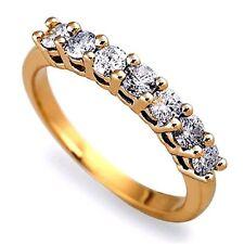 9 Carat Anniversary Round Yellow Gold Fine Diamond Rings