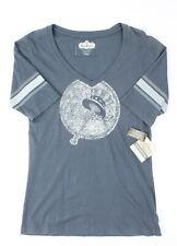 Red Jacket Womens Vintage NY Yankees Half Sleeve Shirt Blue Grey L New