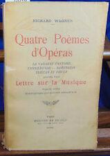 Wagner Quatre poemes d'operas. le vaisseau fantôme. tannhoeuser. lohengr...