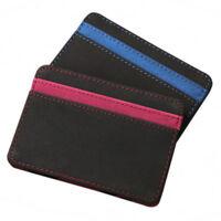 Mens Magic Flip Leather Wallet Slim Credit Card Holder Ultra Style 2