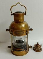 """MARINE BRASS NAUTICAL SHIP LANTEN, SHIP LAMP/ LANTERN, 14"""" SAFETY LAMP"""