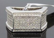 .84 CARAT MENS WHITE GOLD FINISH GENUINE DIAMOND ENGAGEMENT WEDDING PINKY RING