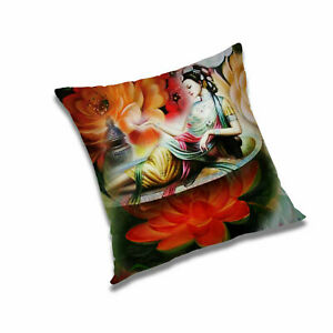 Printed abstract pillowcase 28 x 28 in Square polyester decorative cover