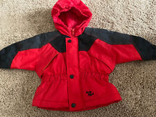 Baby B'gosh 18 Month Hooded Red & Black Winter/Snow Jacket-Euc