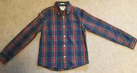 Abercrombie Kids Boys Blue/Green/Red Plaid Button Down Shirt Size: XL. EUC