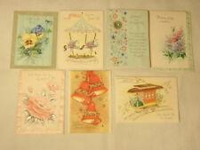 Vintage Secret Pal Greeting Cards Lot of 7 UNUSED