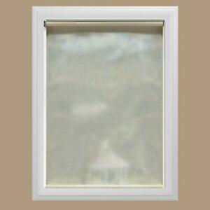 Bali Cut-to-Size Cream Cordless UV Blocking Roller Shades 55.25-in x 72-in
