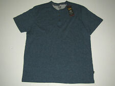 NWT Mens LEE Premium Select Ink Blue Heather Henley S/S Shirt Size XXL