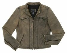 AMERICAN EAGLE Leather Jacket S Small Womens CAFE RACER Motorcycle DISTRESSED