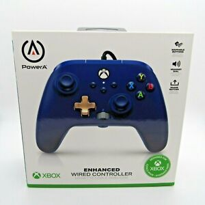 Microsoft Xbox One Series X Enhanced WIRED Controller PowerA Midnight Blue