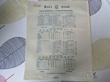 More details for young amateurs v professionals 1933 mcc lord's ground silk cricket scorecard