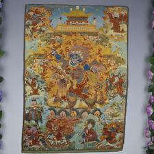 "24"" silk embroidery painting Tibetan Buddha Thangka Palden Lhamo statue"