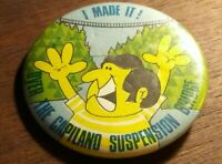 Vintage I Made it Over the Capilano Suspension Bridge Button Pin Pinback