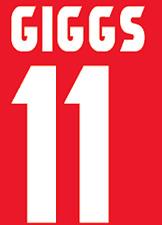 Manchester United Giggs Nameset Shirt Soccer Number Letter Heat Football Home