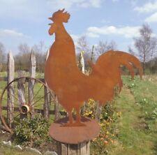 FERME COQ edelrost métal 45cm H.Figurine de jardin de style campagnard pfahldeko