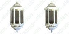 2 x ASD HL/WK060C Half Lanterns with Photocell Dusk to Dawn 60 Watt BC (White)