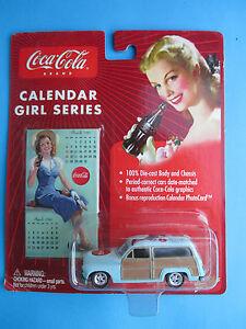 JOHNNY LIGHTNING COCA COLA CALENDER GIRL SERIES-1950 MERCURY WOODY VHTF
