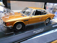 BMW 3.0 CSI CS CSL Coupe gold golden met E9 1972 Minichamps RAR 1:18