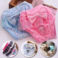 New Female Dog Diaper Sanitary Physiological Pants Briefs Princess Pet Panties