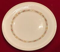 "Wedgwood INSIGNIA Metallised Bone China #80 Rimmed White 7"" Bread Plates (5) EUC"