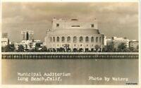 1930s Long Beach California Municipal Auditorium Waters RPPC Real photo 11215