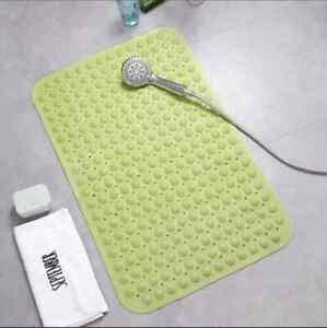 Large Non-Slip Bath Mat Bathroom Shower Massage Rubber Strong Suction Home Decor