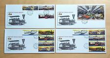 2010 Malaysia Trains Railway KTM 125 Years, Stamp 4v + Booklet 10v + MS on 4 FDC