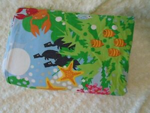 1999 Ikea bright colorful under the sea novelty twin duvet only 60X78