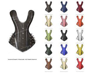 26 Double Steel Boned Waist Training Leather Long Overbust Shaper Corset #8964-B