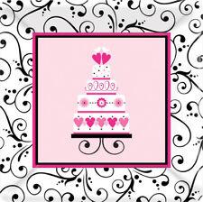 SWEET WEDDING SMALL PAPER PLATES (18) ~ Bridal Shower Party Supplies Dessert