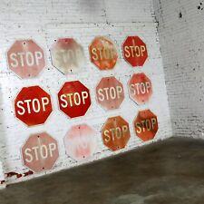 Vintage Metal Stop Signs