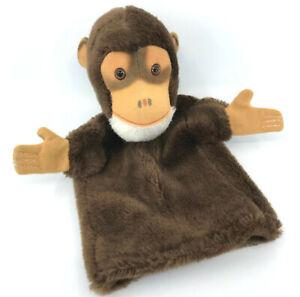 Hermann Plush Jocko Chimp Hand Puppet 1970s no ID Vintage Monkey