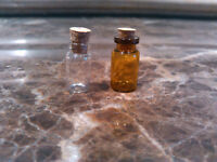 100pcs 1ml Vials Glass Bottles with Corks Clear or Brown Empty Sample Jars Small