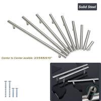 100% Solid Stainless Steel Kitchen Cabinet Handles Pulls Knobs Hardware Screws